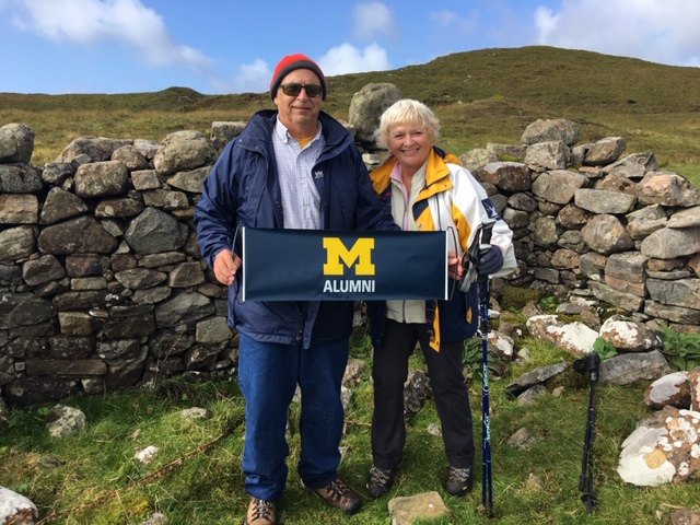 Paul S. Christie, DDS'76, and Nancy Erickson Christie, '74, took a hike to the western islands of Scotland.